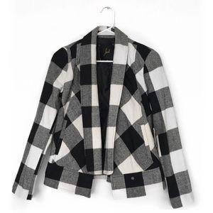 JACK by BB Dakota Black White Buffalo Check Jacket